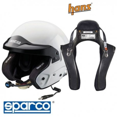 PROMO Sparco open-face helmet Rally-FHR 20° Schroth