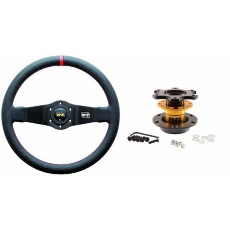 PROMO Steering wheel and quick release GR.N